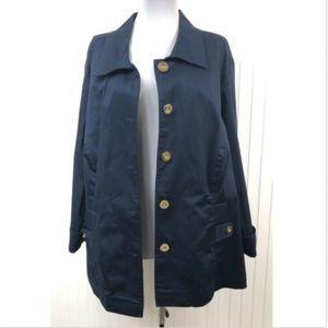 Charter Club NWOT Blazer Jacket 3X Blue Stretchy